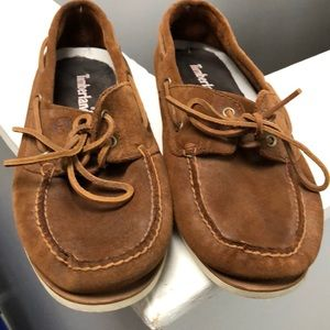 Timberland suede boat shoes